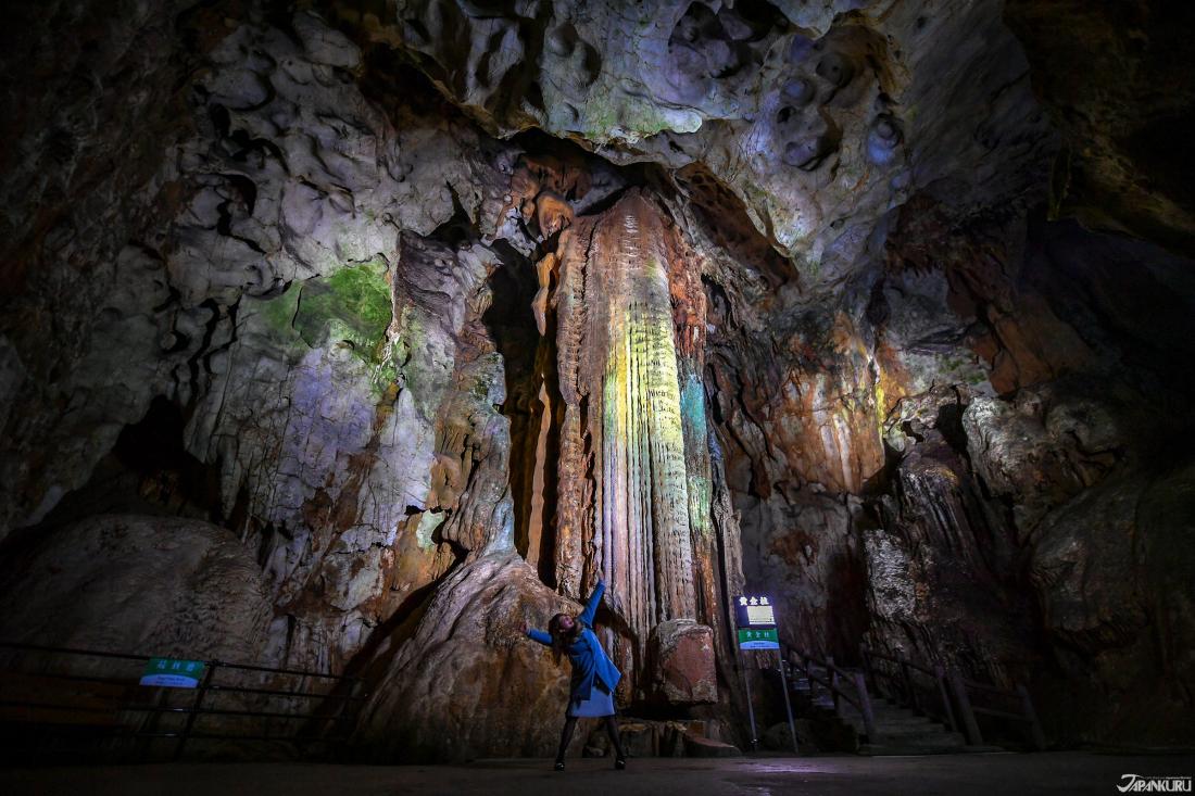 雨水於空氣中的酸溶蝕出奇形怪狀的鐘乳石柱,是天然的雕刻藝術品。