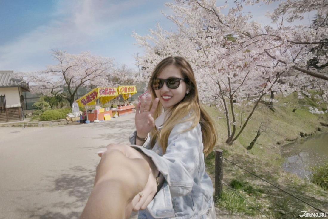 벚꽃 축제기간에는 야타이(屋台:포장마차)도 열려요!