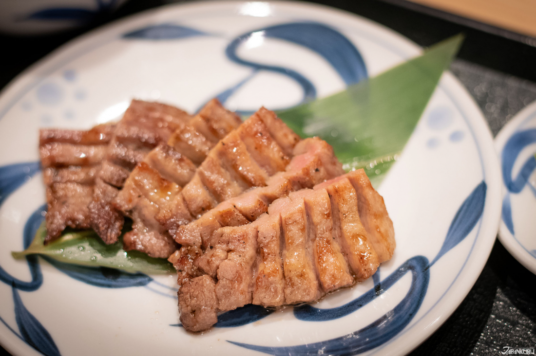 The tender meat is carefully plated, and ready to eat.