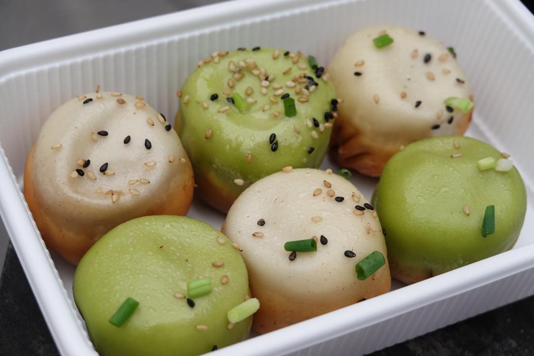 돼지고기&해산물 믹스 야키소룡포 6개(1,170엔)