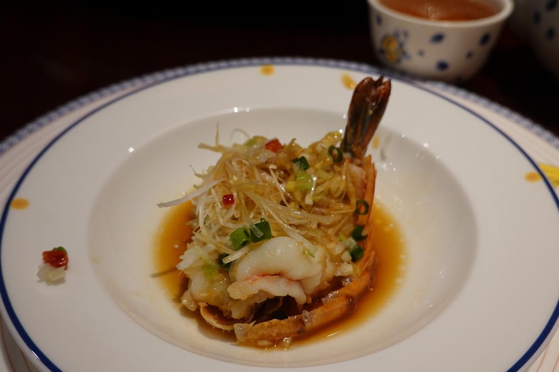 鮮甜的清蒸大蝦