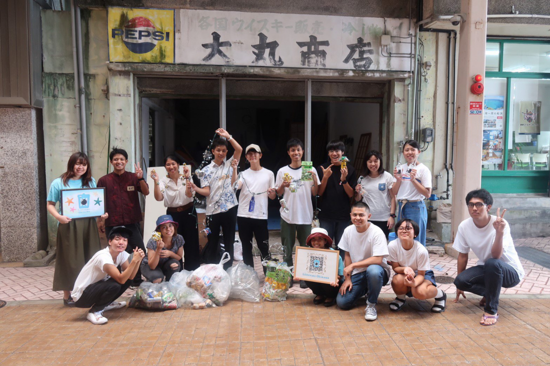 沖繩大學生們自主發起清掃活動