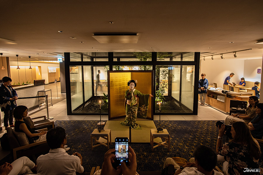 Passez la soirée avec une artiste maiko de Kyoto.