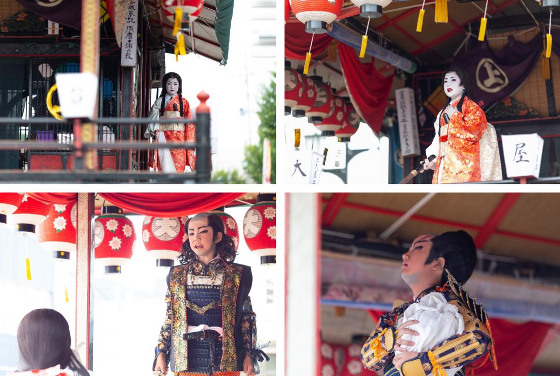 雖然是小孩,但演起歌舞伎的表情可不輸大人