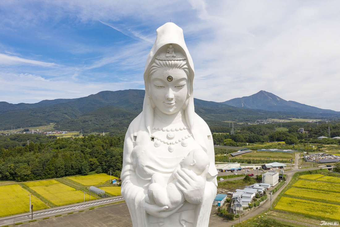 The Giant Kannon Statue (会津慈母大観音像) - The Jewel of Aizumura