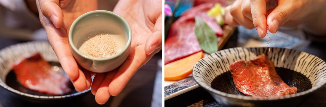 除了桌上本來就附的鹽以外,也可以跟店家要特製鹽