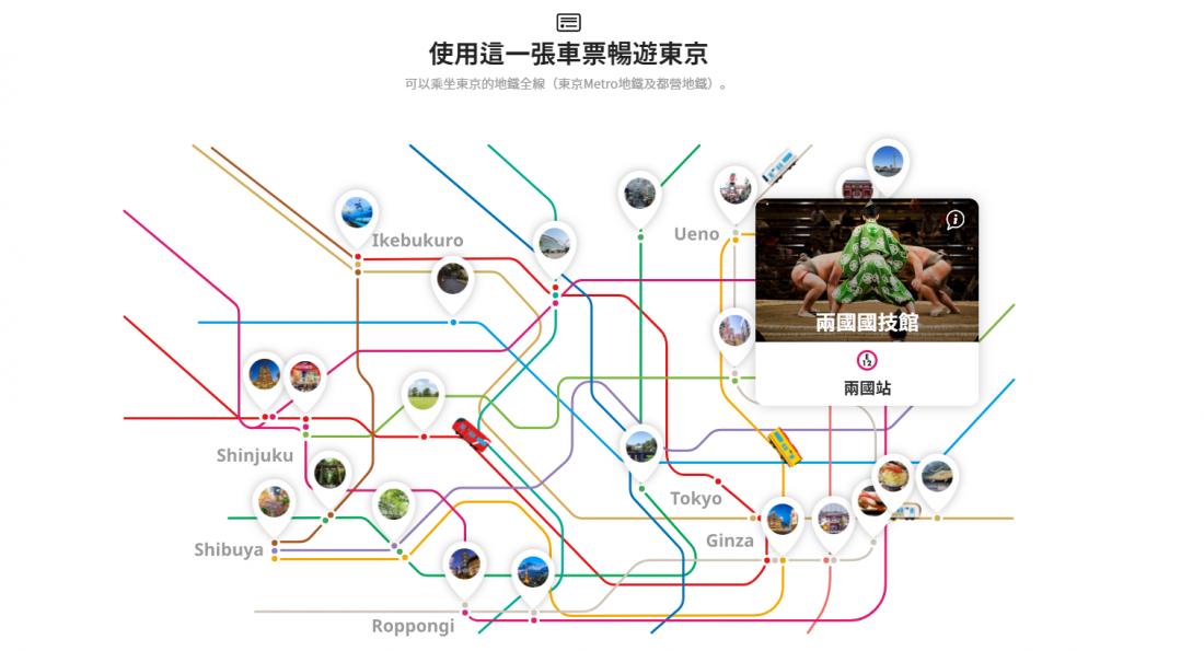 外國旅客限定購買的東京車票套票,一張車票讓你玩轉東京!