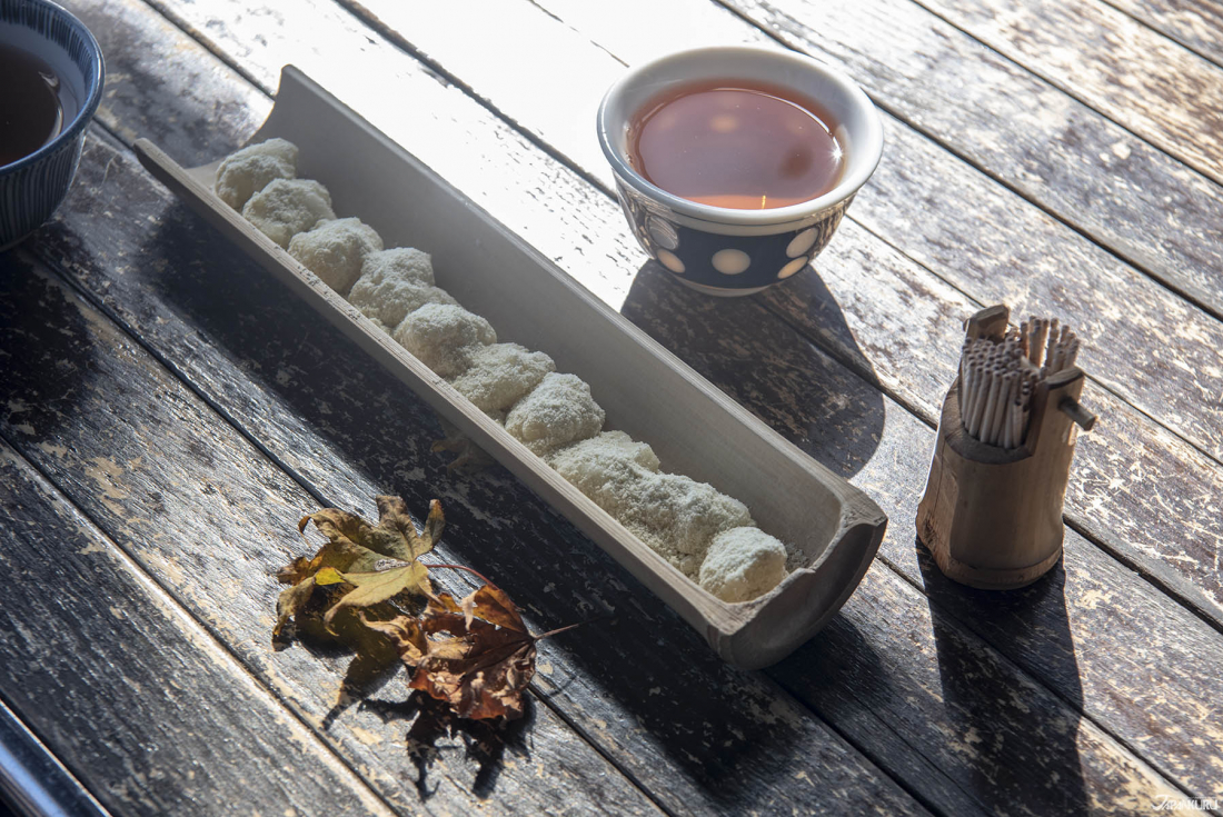 치카라모치 키나코(콩가루)맛 500엔
