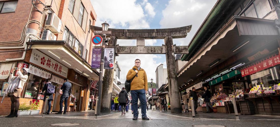 Mua sắm quần áo thu đông và đồ dã ngoại tại Arc'teryx ở Fukuoka