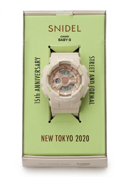 【신상품 출시】SNIDEL x BABY G 콜라보레이션 시계 등장. 4월9일부터 판매 스타트