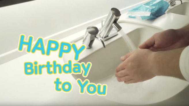 Tackling COVID-19 with 20 Seconds of Happy Birthday Hand Washing