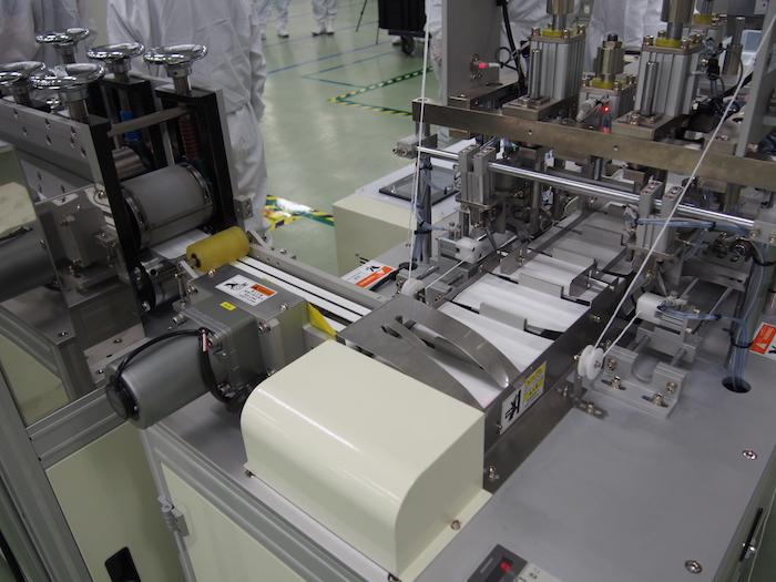 เครื่องจักรที่ใช้ในการผลิตหน้ากากอนามัย