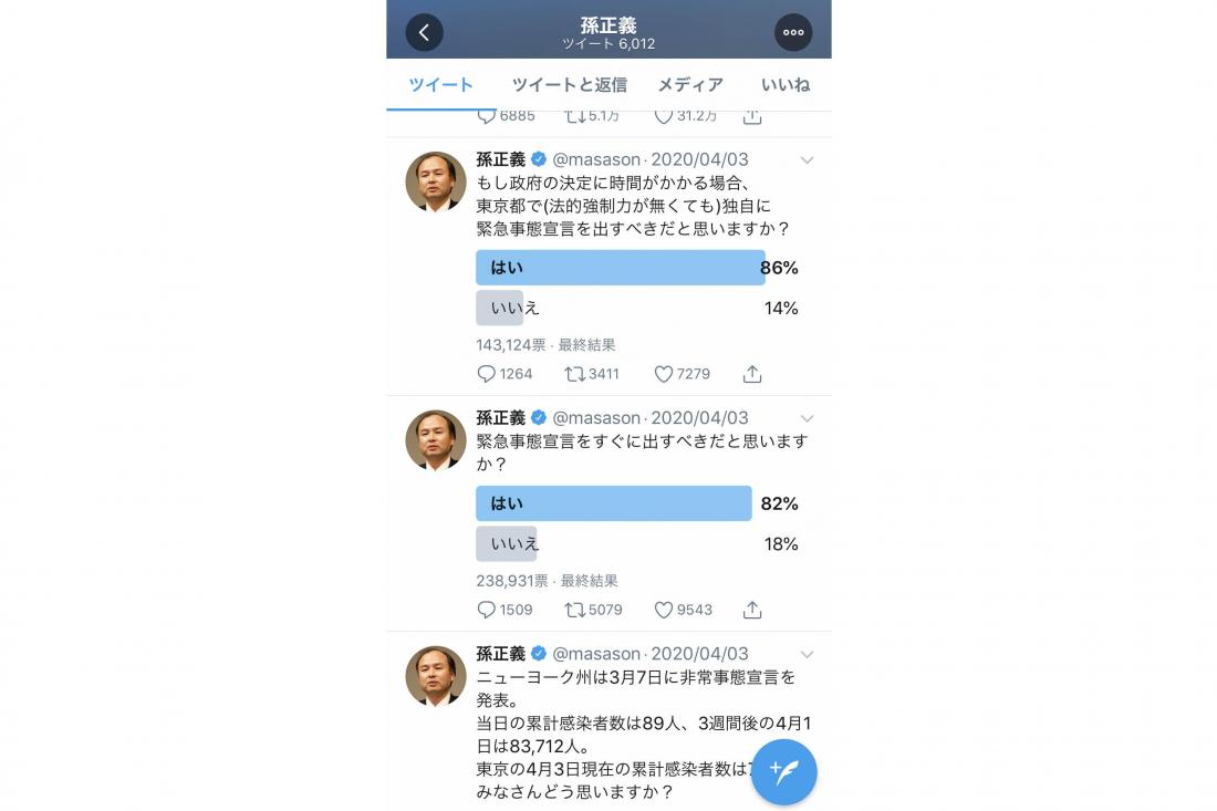 손정희 회장의 트위터 활용120%
