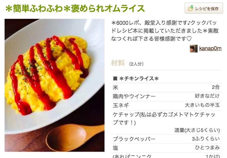 Recipe ③ Omurice (オムライス)