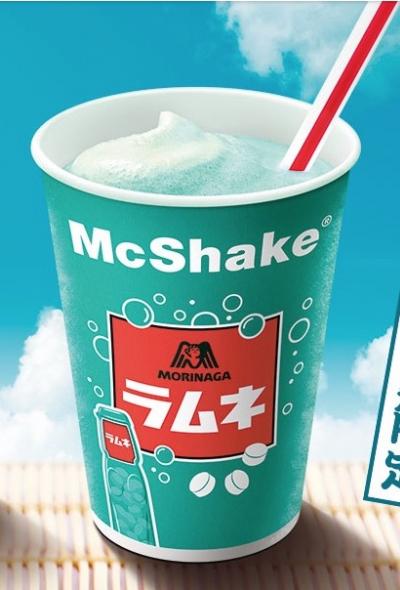 期間限定!日本麥當勞x森永彈珠汽水奶昔 夏天就愛古早味