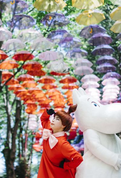 เทศกาลร่มลอยฟ้า ที่ Moominvalley Park Metsä Umbrella Sky Design Project 2020