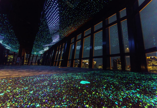 Tokyo Tower Milky Way Illumination (Observation Deck Light Show)