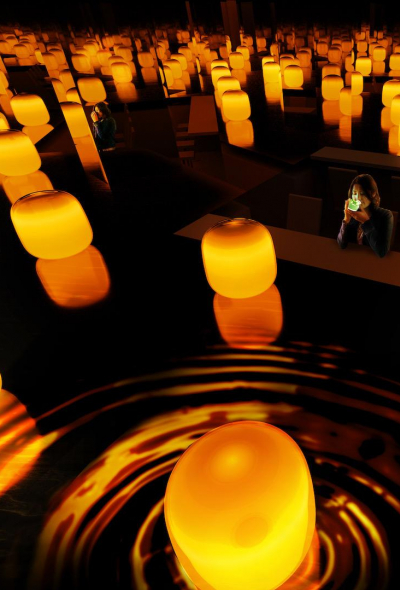 Teamlab: Tea Time in the Soy Sauce Storehouse (Okayama)