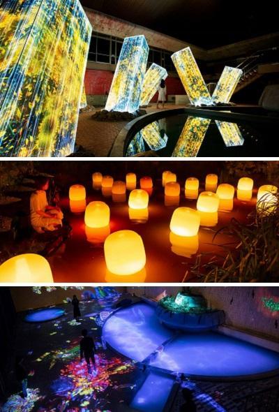 九州佐賀御船山樂園  teamLab:神在之森數位藝術展