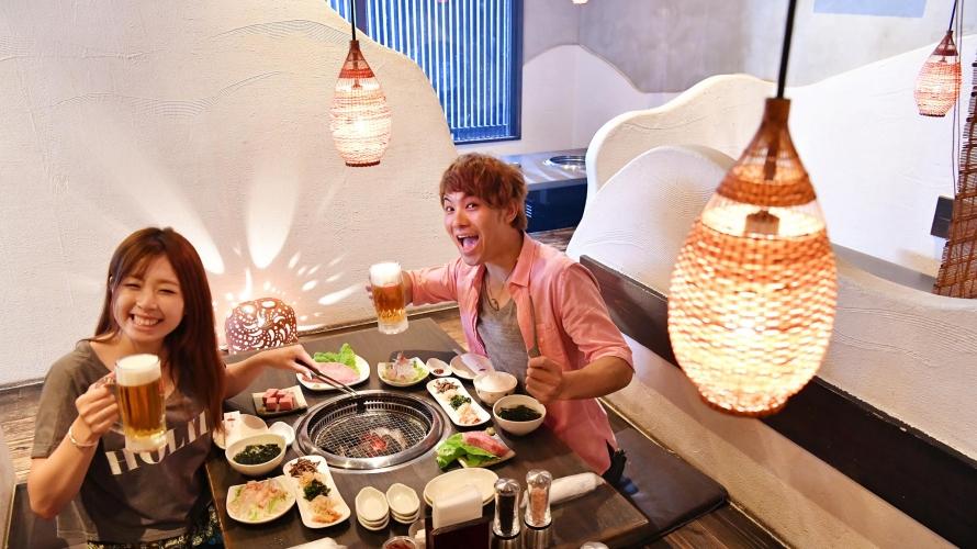 ร้านอาหารเนื้อย่างโอกินาว่าแสนอร่อยที่มีชื่อเสียงมากที่สุด - Ryukyu no Ushi!