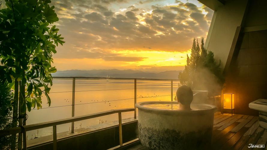 金泽的度假胜地加贺片山津温泉  看见山湖合一的绝景:佳水乡温泉旅馆