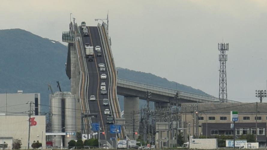 鳥取島根江島大橋:雲霄飛車級超陡坡?日本第一PC「拉麵」橋