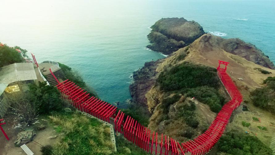 CNN也推薦的日本最美景色  斷崖上的鳥居  元乃隅神社