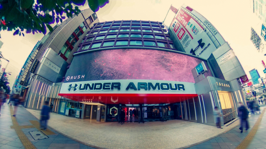 Under Armour à Tokyo! La gigantesque boutique dernier cri  Under Armour Brand House...