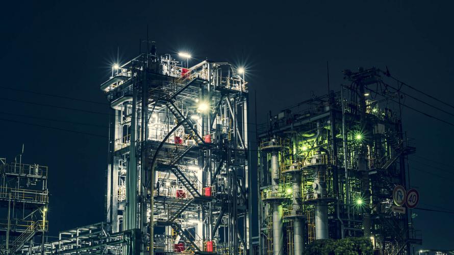 川崎工場夜景と人工美