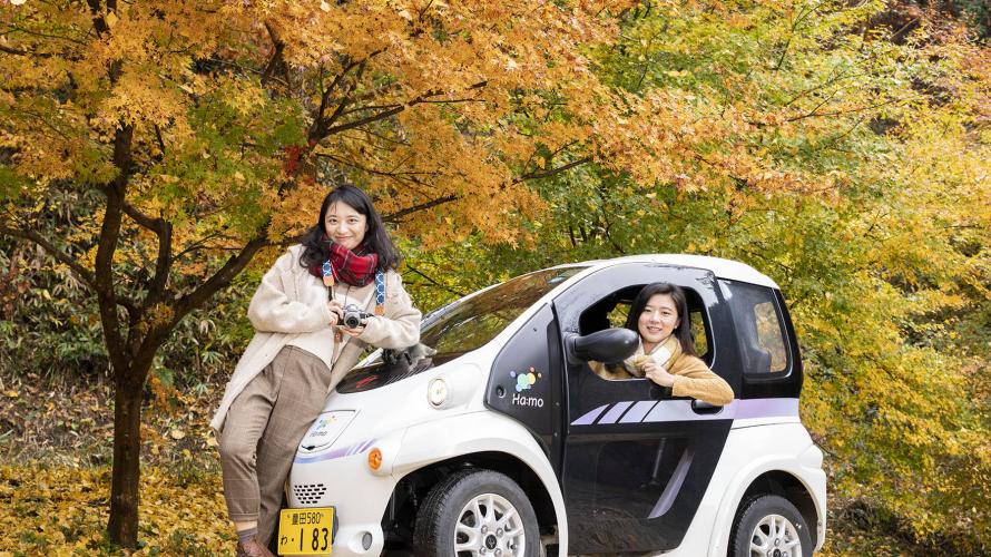 豊田にあるトヨタのEV車