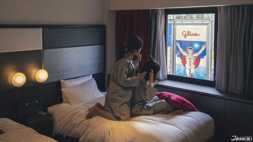 Cross Hotel Osaka - View biển hiệu Glico nổi tiếng gần ngay Shinsaibashi và Namba.
