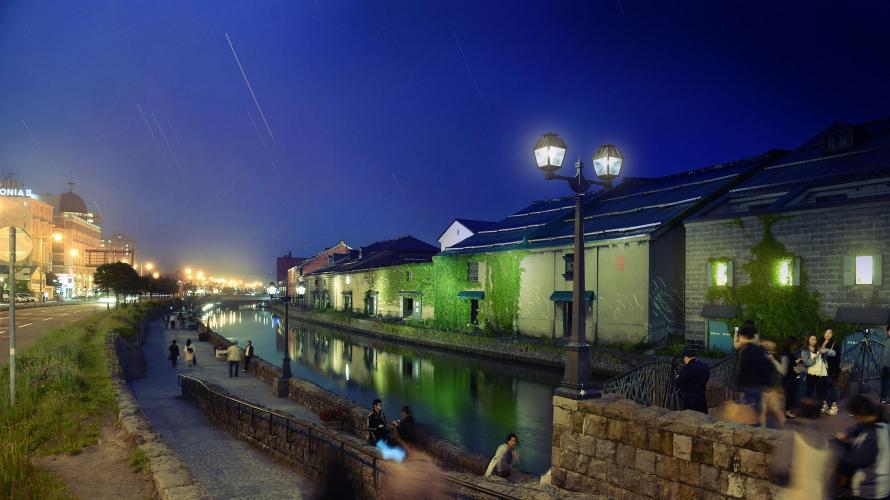 北海道 小樽の定番 小樽運河