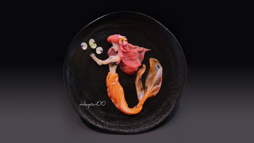 인어공주로 환생한 연어?? 놀라운 일본의 '생선회 아트(ART)'