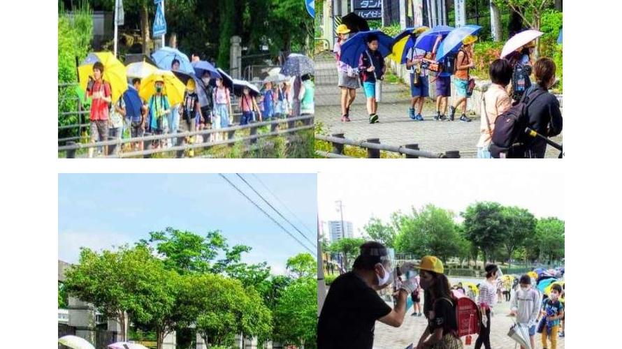 """일본 초등학교 """"마스크 대신 우산 쓰고 등교하세요"""""""