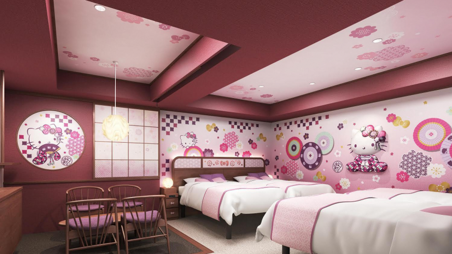 Hello Kitty Themed Hotel Rooms - New in Asakusa, Tokyo!
