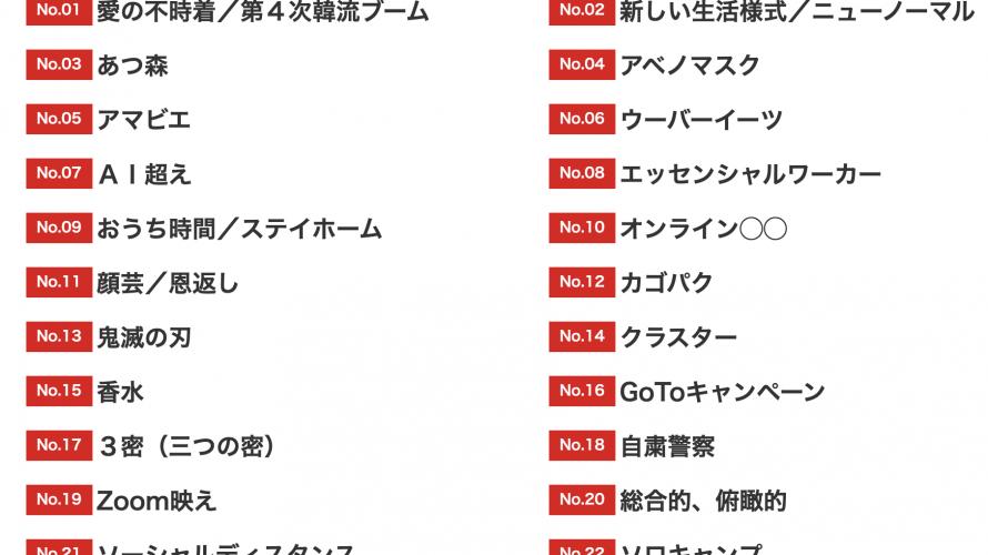 2020 일본 신조어.유행어 대상 후보 30  ①/3