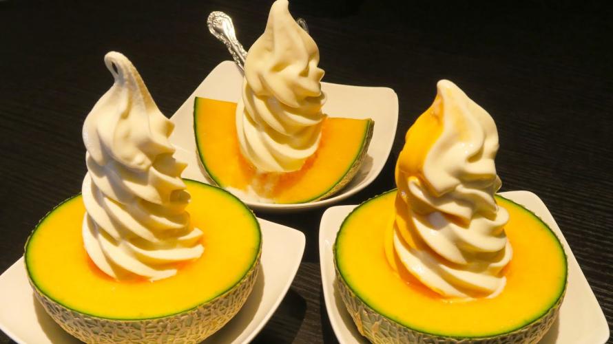 Melon Ice Cream & Hokkaido Milk Soft Serve in Otaru ・ Hokkaido for Foodies