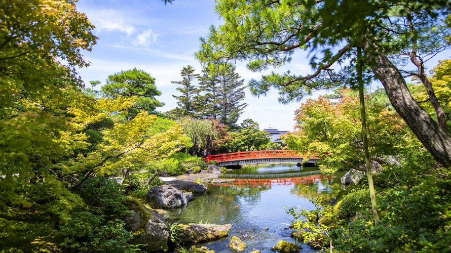 산인의 비밀 | 사계절 내내 아름다운 마쓰에 유시엔 정원을 즐기다