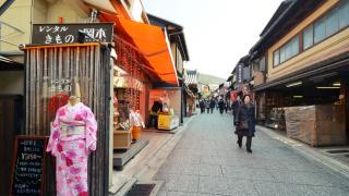 Stylish Kimonos in Kyoto