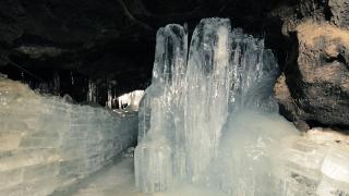Cave underneath Mount Fuji