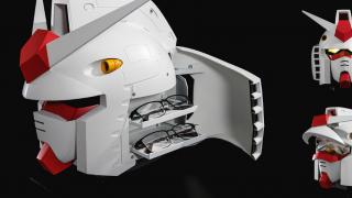 【機動戰士鋼彈40周年紀念】與OWNDAYS聯乘系列第2彈 限量鋼彈頭型眼鏡收納盒