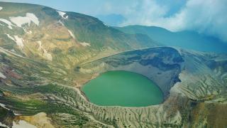 จ.มิยางิ ภูเขาซาโอะ ทะเลสาบปากปล่องภูเขาไฟโอคามะ