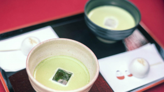 Fukushima - Aizu Wakamatsu - A Cup of Chilled Matcha at Rinkaku