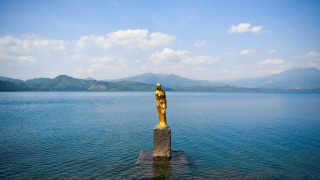 Akita - Lake Tazawa - The Statue of Tatsuko