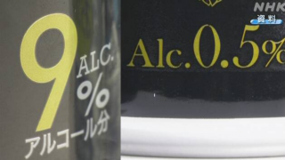 일본 주류의 알콜함량, '그램' 표기로
